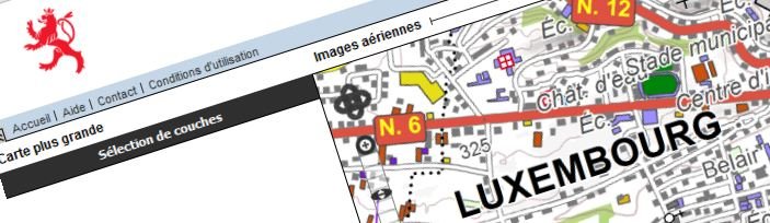 Geoportail national du Luxembourg – Cartes et plans officiels