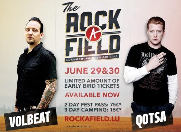 Festival Rock A Field 2013 : programme complet