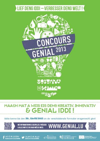 Concours Génial 2013 au Luxembourg : lancement des inscriptions