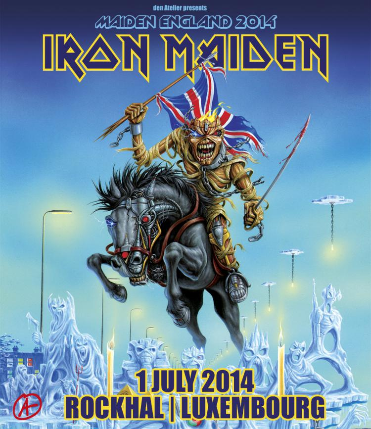 Iron Maiden au Luxembourg : finalement, ce sera à Roeser