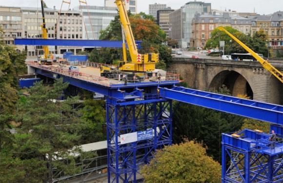 Luxembourg-ville : ouverture reportée du pont provisoire au Pont Adolphe