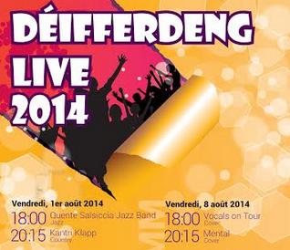 Differdange : le plein de concerts gratuits avec le Déifferdeng Live 2014