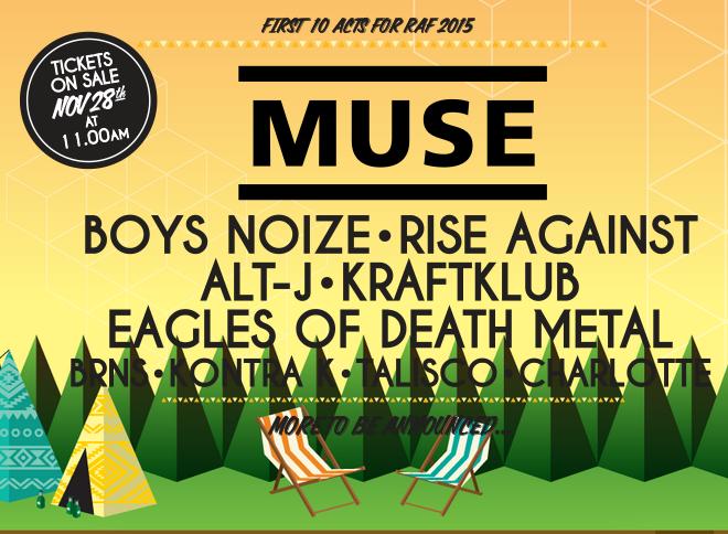 Rock-a-Field 2015 : Muse parmi les premiers groupes annoncés