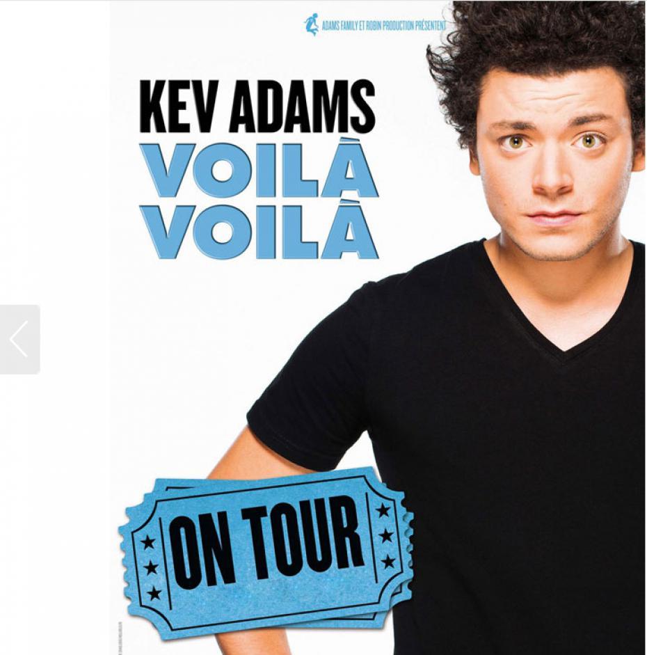 Spectacle : Kev Adams présente «Voilà voilà» à la Rockhal