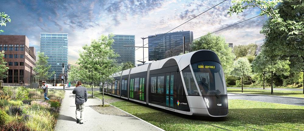 Les premières images du Tram de Luxembourg