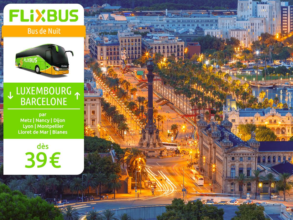 Luxembourg-Barcelone à petit prix grâce à une nouvelle ligne de bus