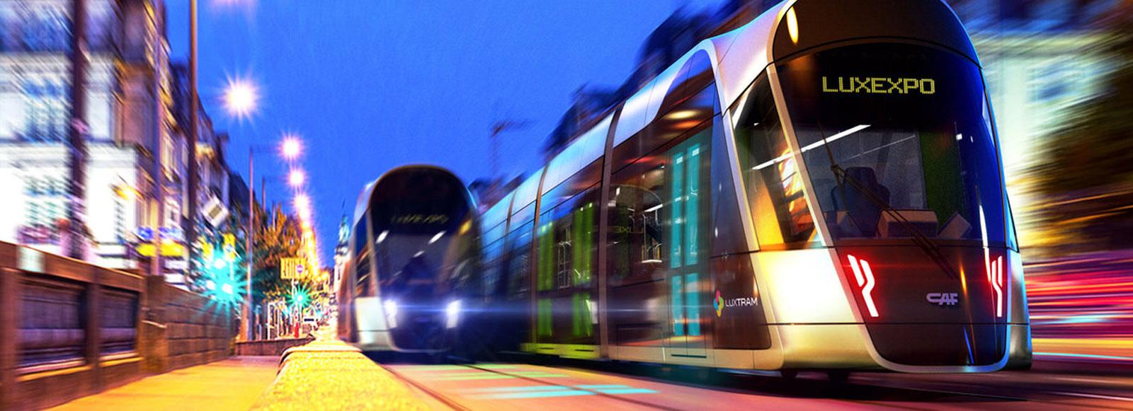 Première sortie pour le tram à Luxembourg